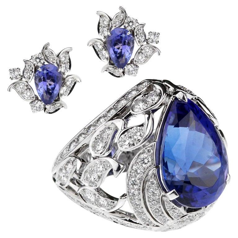 Van Cleef & Arpels One of a Kind Les Jardins Diamond Suite For Sale