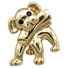 Van Cleef & Arpels Onyx 18k Gold Dog Brooch