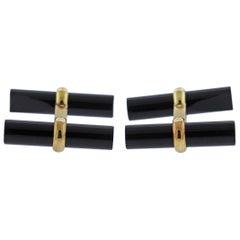Van Cleef & Arpels Onyx Gold Cufflinks