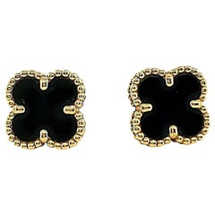 Van Cleef & Arpels Onyx Sweet Alhambra Earrings