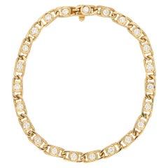 Van Cleef & Arpels Openwork Diamond Line Gold Bracelet
