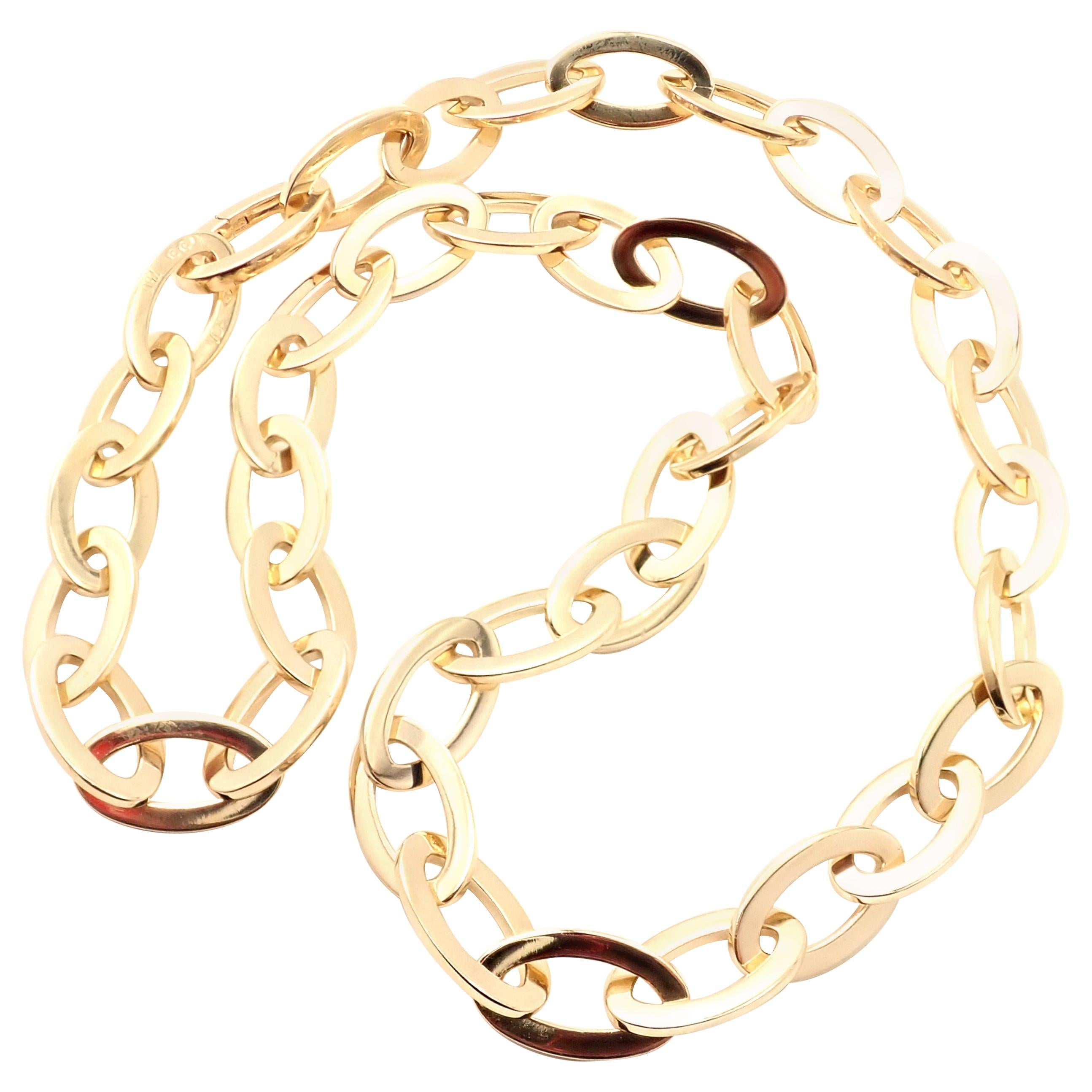 Van Cleef & Arpels Oval Link Yellow Gold Necklace