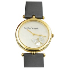 """Van Cleef & Arpels """"Papillon"""" Mother of Pearl and Diamond Wristwatch"""