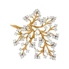 Van Cleef & Arpels, Paris, 1950s Diamond and Gold 'Capillaire' Brooch