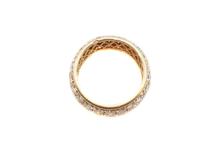 Van Cleef & Arpels Paris Diamond Yellow Gold Eternity Band For Sale 1