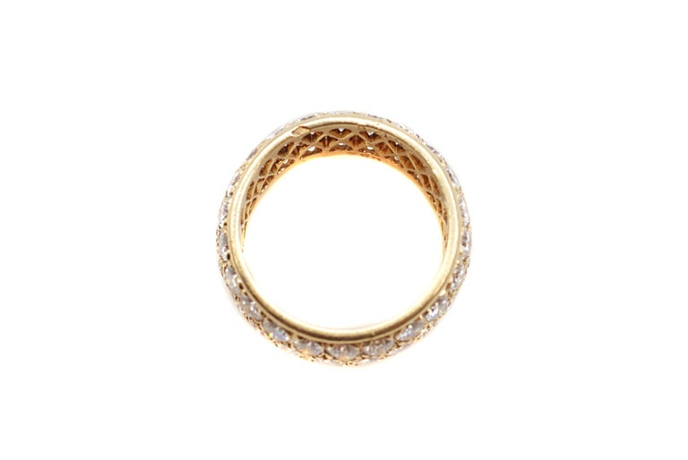 Van Cleef & Arpels Paris Diamond Yellow Gold Eternity Band For Sale 1