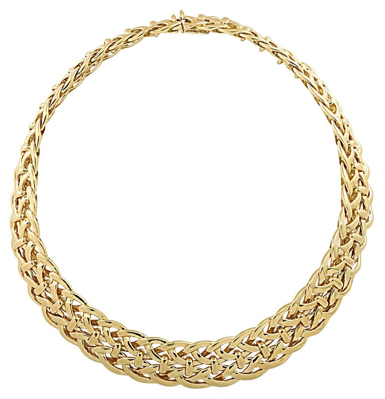 Van Cleef & Arpels, Paris Yellow Gold Collar Necklace For Sale 1