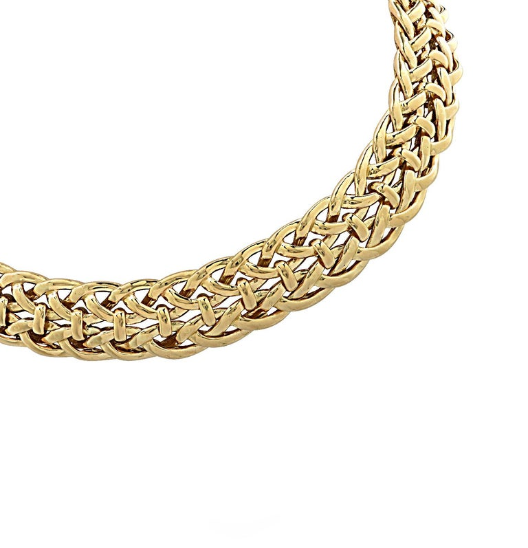 Van Cleef & Arpels, Paris Yellow Gold Collar Necklace For Sale 3