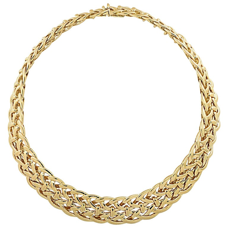 Van Cleef & Arpels, Paris Yellow Gold Collar Necklace For Sale