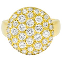Van Cleef & Arpels Pave Diamond 18 Karat Gold Circle Band Ring
