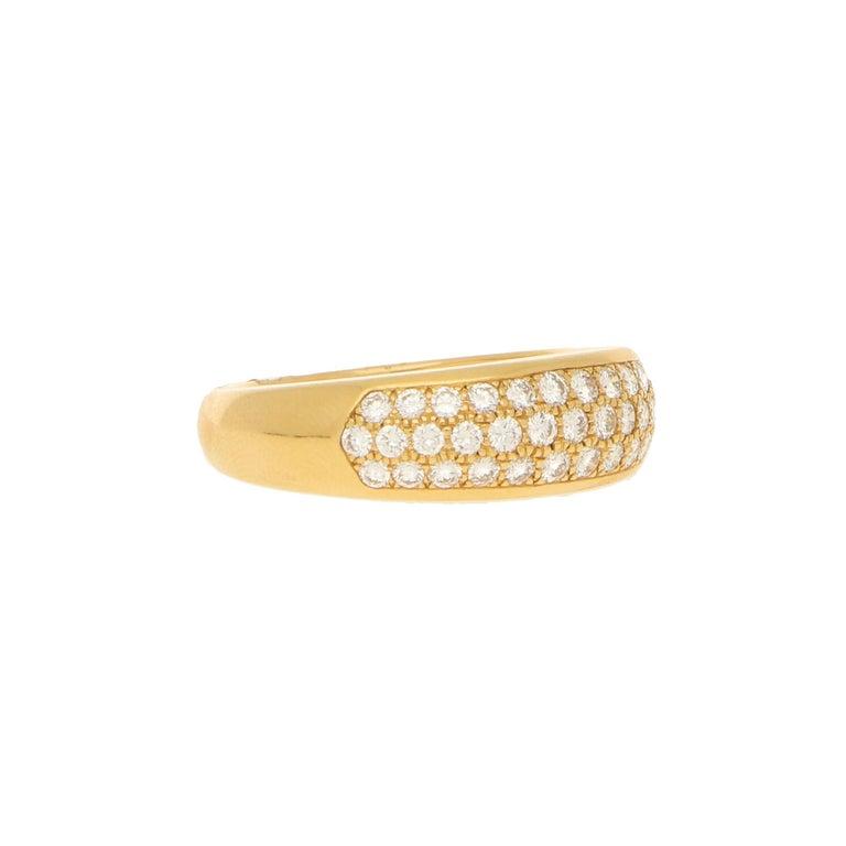 Art Deco Van Cleef & Arpels Pave Set Diamond Ring 0.88ct For Sale