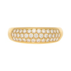 Van Cleef & Arpels Pave Set Diamond Ring 0.88ct