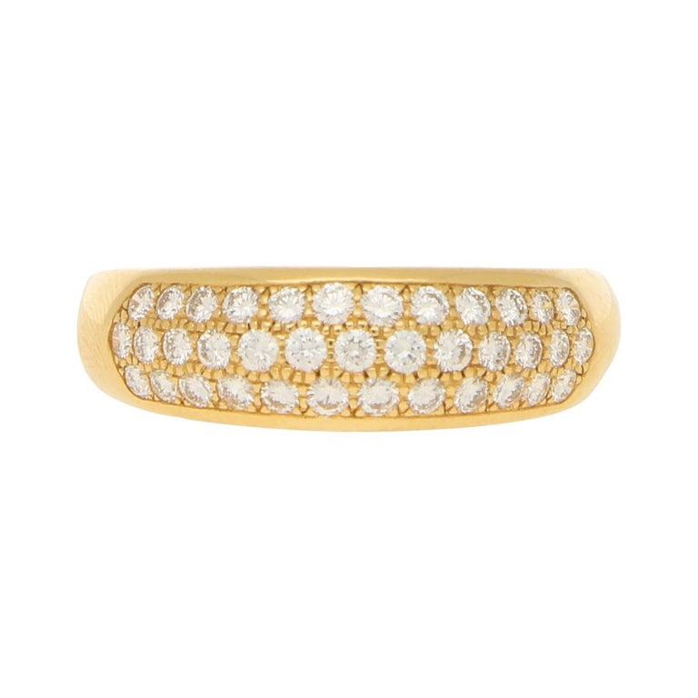 Van Cleef & Arpels Pave Set Diamond Ring 0.88ct For Sale