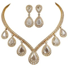 Van Cleef & Arpels Pear-Shaped Diamond Necklace and Earrings