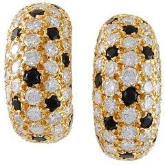 Van Cleef & Arpels Pelouse Diamond Onyx Bombe Earrings