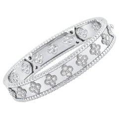 Van Cleef & Arpels Perlée 18 Karat White Gold Diamond Bracelet