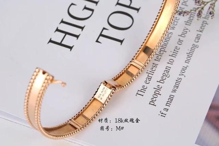 Van Cleef & Arpels Perlée Bangle Bracelet Medium Size For Sale 2