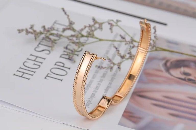 Van Cleef & Arpels Perlée Bangle Bracelet Medium Size For Sale 3