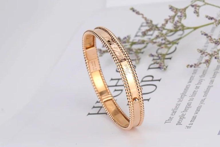 Van Cleef & Arpels Perlée Bangle Bracelet Medium Size For Sale 4