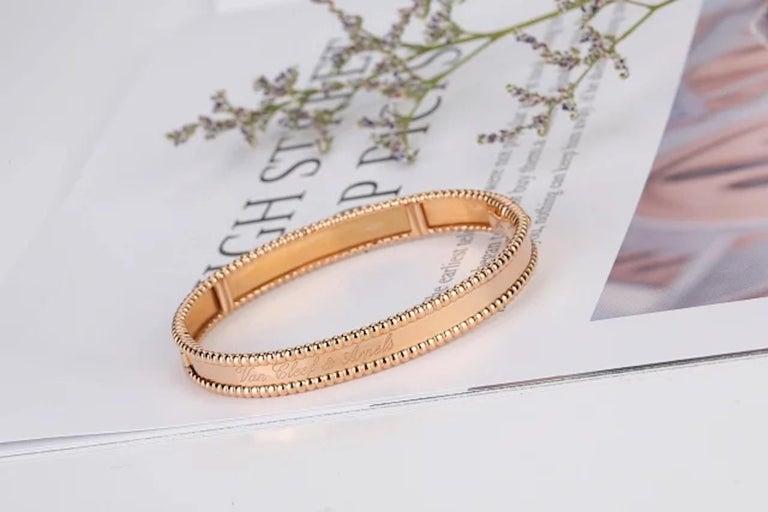 Van Cleef & Arpels Perlée Bangle Bracelet Medium Size For Sale 5