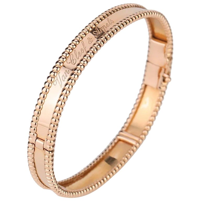 Van Cleef & Arpels Perlée Bangle Bracelet Medium Size For Sale