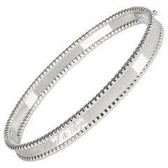 Van Cleef & Arpels Perlee Bracelet in 18 Karat White Gold