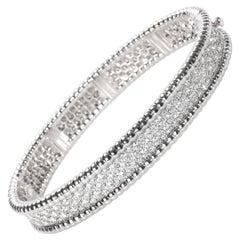 Van Cleef & Arpels Perlee Diamond Bracelet in 18k White Gold
