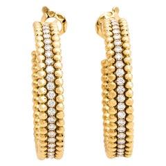 Van Cleef & Arpels Perlée Diamond Hoop Earrings
