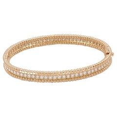 Van Cleef & Arpels Perlée Diamonds Rose Gold Bracelet, Extra Small Model