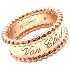 Van Cleef & Arpels Perlee Rose Gold Band Ring