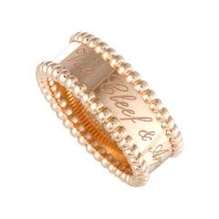 Van Cleef & Arpels Perlée Signature 18 Karat Rose Gold Band Ring