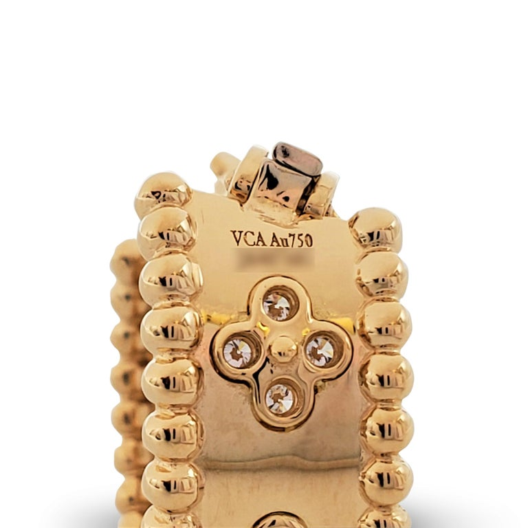 Van Cleef & Arpels Perlée Yellow Gold and Diamond Earrings 2