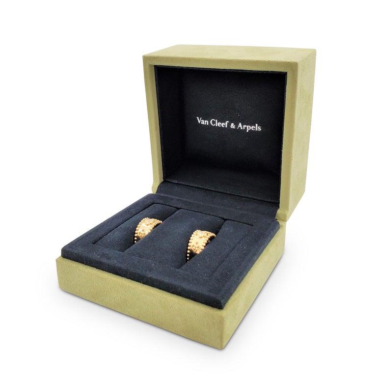 Van Cleef & Arpels Perlée Yellow Gold and Diamond Earrings 3