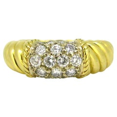 Van Cleef & Arpels Philippine Diamonds Ring, 18kt Yellow and White Gold, France