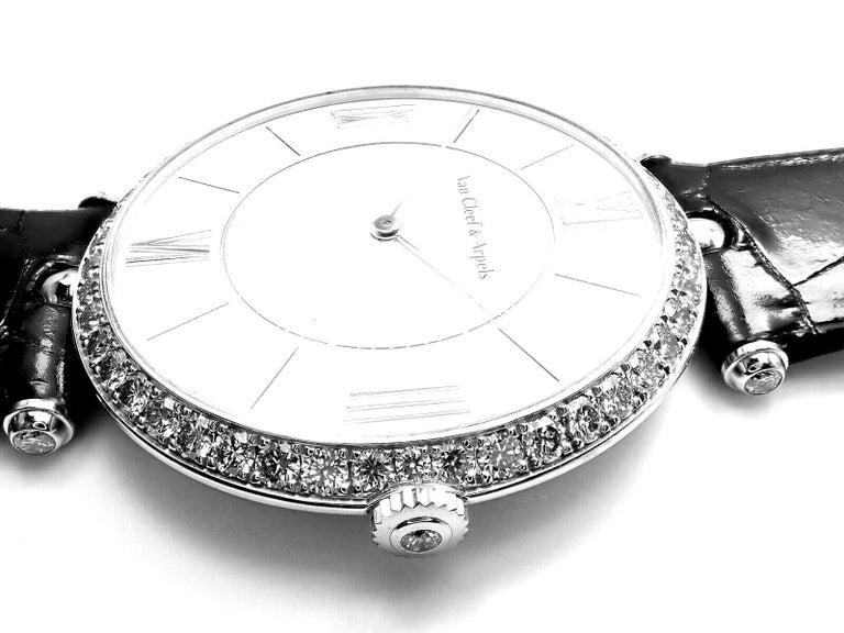 Van Cleef & Arpels Pierre Arpels Diamond White Gold Wristwatch For Sale 1