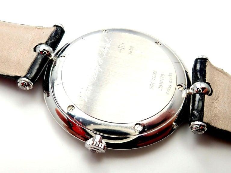 Van Cleef & Arpels Pierre Arpels Diamond White Gold Wristwatch For Sale 3