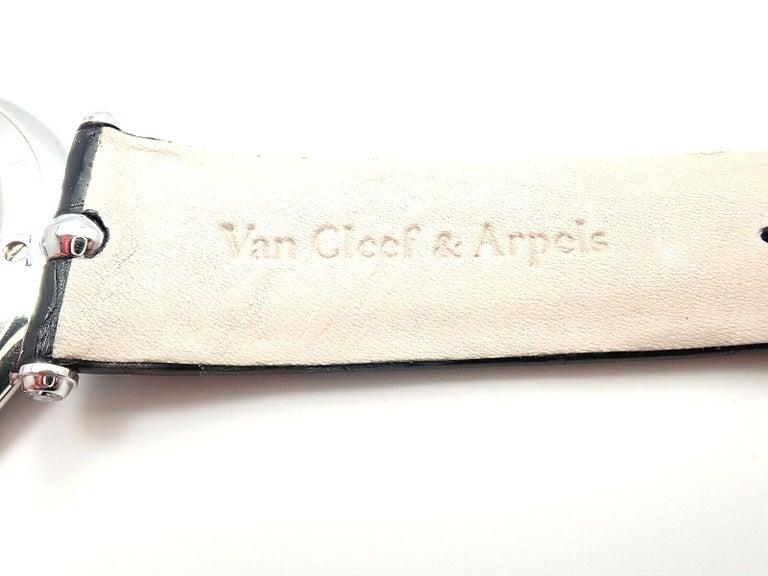 Van Cleef & Arpels Pierre Arpels Diamond White Gold Wristwatch For Sale 4