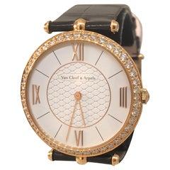 Van Cleef & Arpels Pierre Arpels Rose Gold Diamond Bezel Watch VCARO3GL00