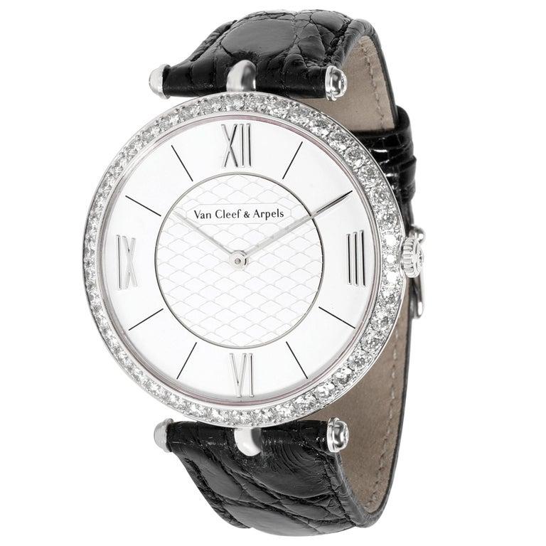 Van Cleef & Arpels Pierre Arpels VCARO3GJ00 Unisex Watch in 18 Karat White Gold For Sale