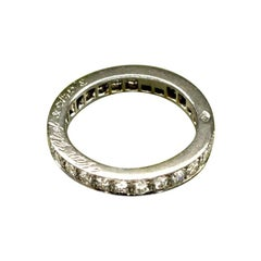 Van Cleef & Arpels Platinum 0.89 Carat Diamond Romance Eternity Ring