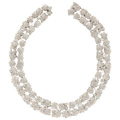 Van Cleef & Arpels Platinum and Diamond Melusine Necklace
