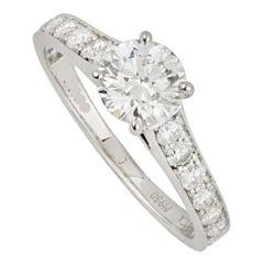 Van Cleef & Arpels Platinum Diamond Romance Ring 0.40 Carat