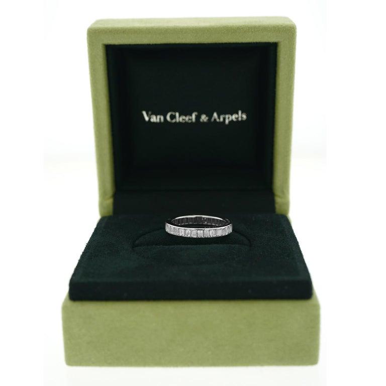 Emerald Cut Van Cleef & Arpels Platinum Eternity Band For Sale
