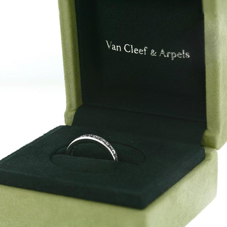 Van Cleef & Arpels Platinum Eternity Band For Sale 2