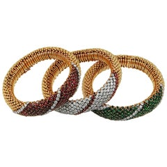 Van Cleef & Arpels Province Bombe Bracelet Trio