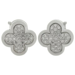 Van Cleef & Arpels Pure Alhambra Diamond White Gold Earrings