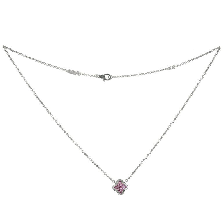 Van Cleef & Arpels Pure Alhambra Limited Addition Pink Sapphire Necklace 1