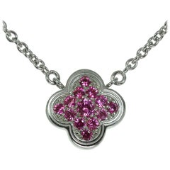 Van Cleef & Arpels Pure Alhambra Limited Addition Pink Sapphire Necklace