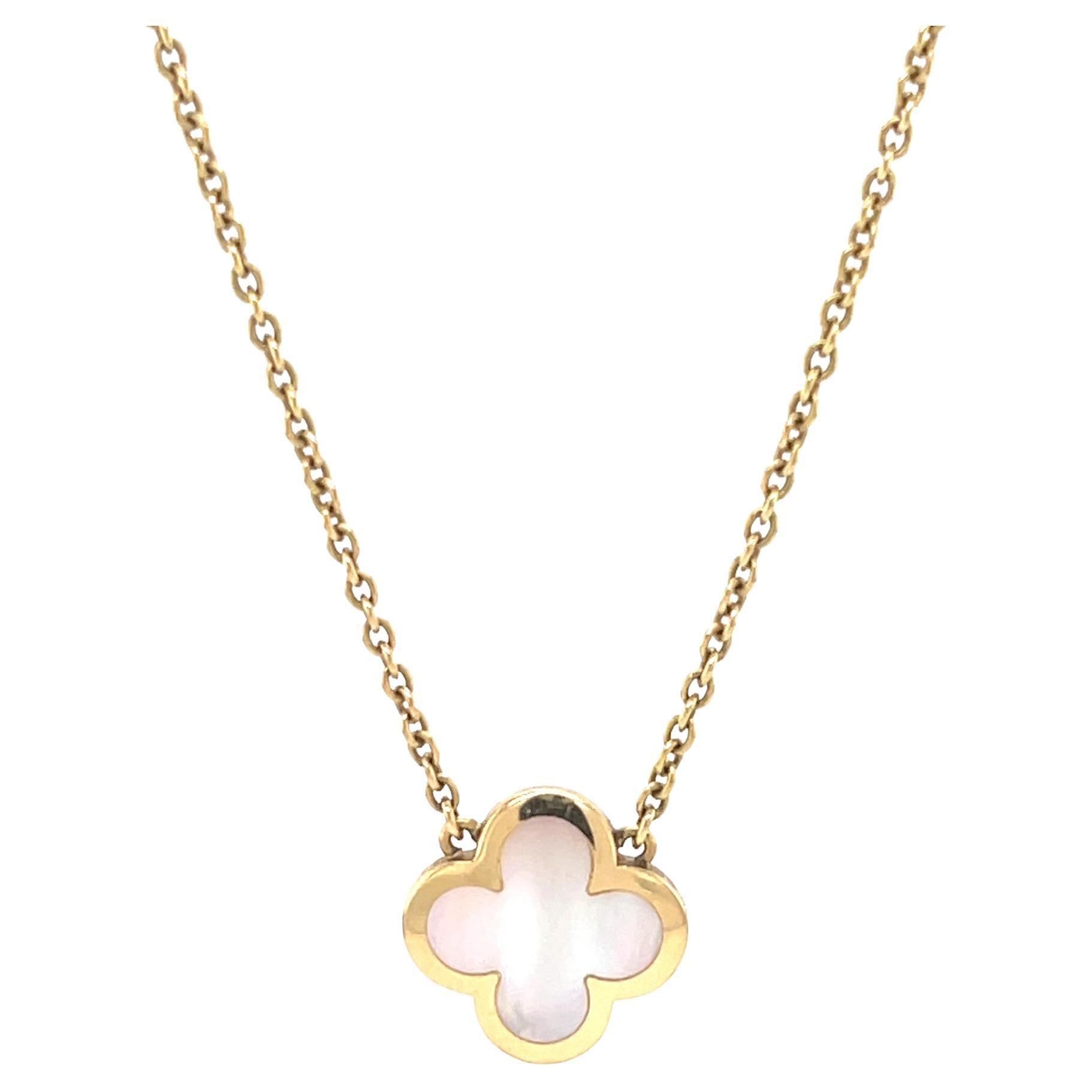 Van Cleef & Arpels Pure Alhambra Mother of Pearl 18 Karat Gold Necklace