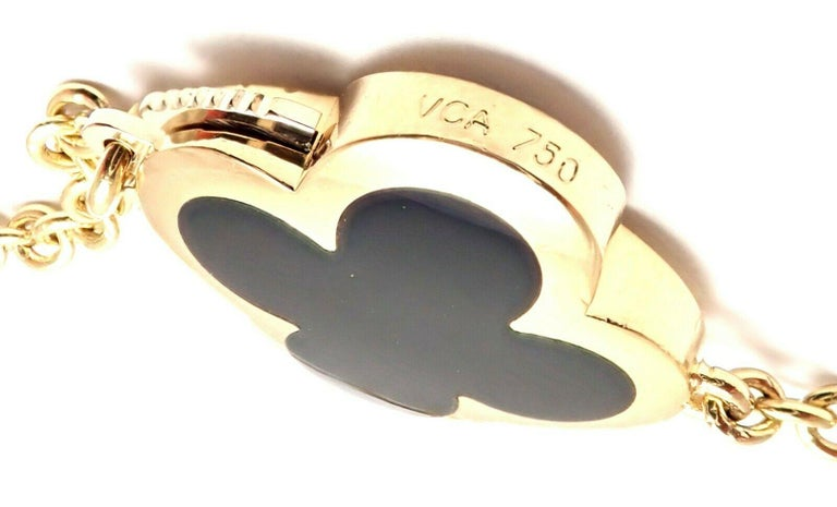 Van Cleef & Arpels Pure Alhambra Nine Motifs Black Onyx Necklace For Sale 1